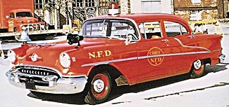 1955 olds fire car