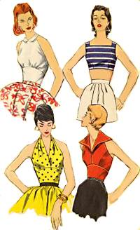 Fifties Halter tops