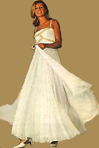 1960s pretty white dress