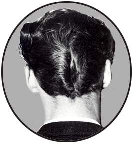 Image result for duck ass hairstyle 1950s