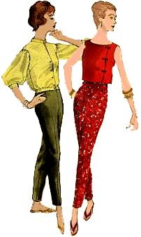 Fifties fashions - pants