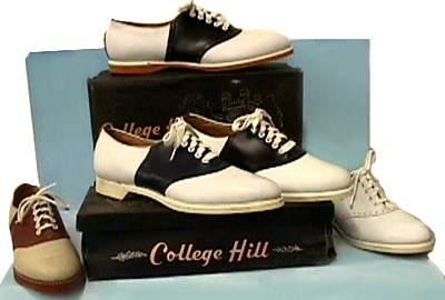 SALE shoes 6 / 50s shoes /vintage shoes / saddle shoes / leather shoes