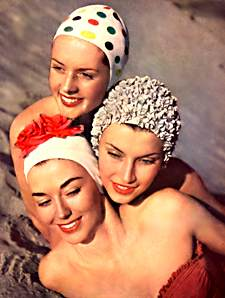 Fifties Swim caps, bathing cap