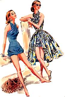 Fifties fashions - swimwear