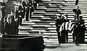 John F Kennedy coffin
