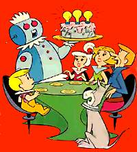 image of robot serving cake to Jetson family